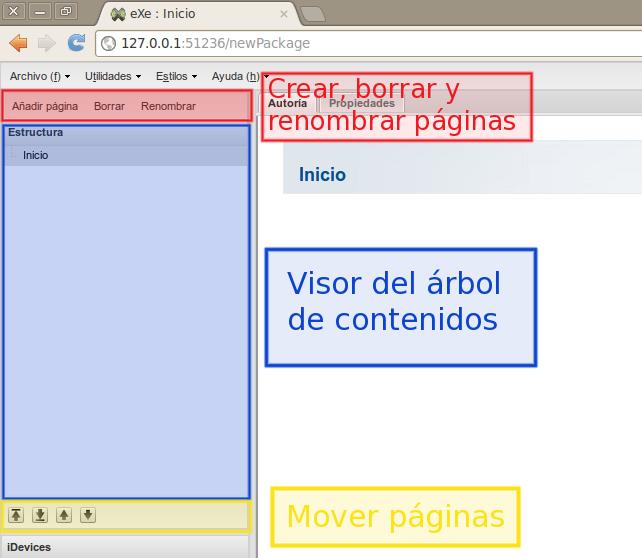 Árbol de contenidos | Tutorial manual de eXeLearning net  El nuevo